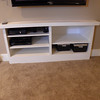 Custom built in cabinet for the electronics