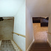 Before & after of the stairway