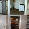 Before & after of the laundry room