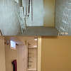 Before & after of the bathroom area