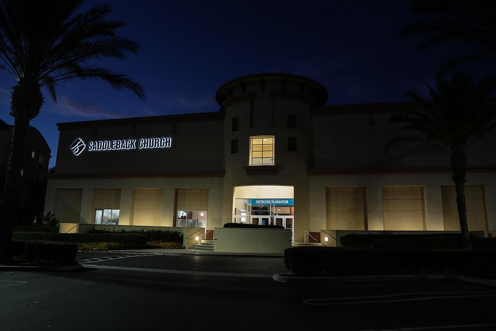 2016-07-02 Saddleback Church Building at night