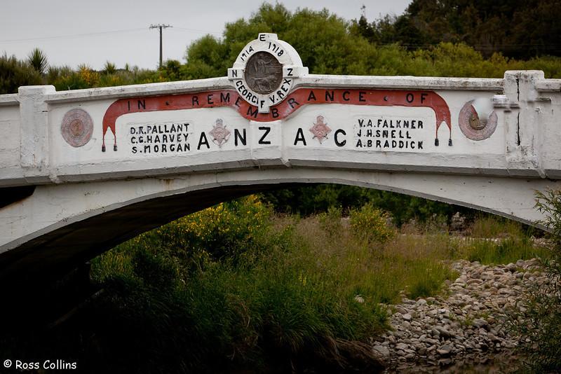 ANZAC Memorial Bridge, Makakahi River, Kaiparoro, Wairarapa, 12 December 2012