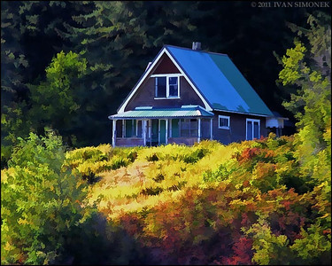 """BOUNDARY HOUSE"",now defunct Canadian Customs,Stikine river,B.C.,Canada."