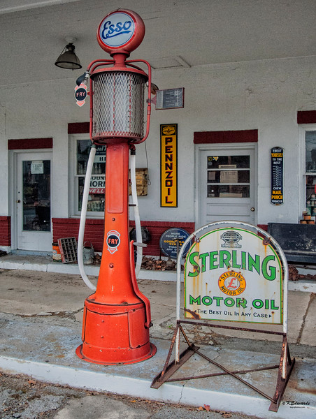 Westbrook's Esso Gas Pump - 181/2 cents per gallon