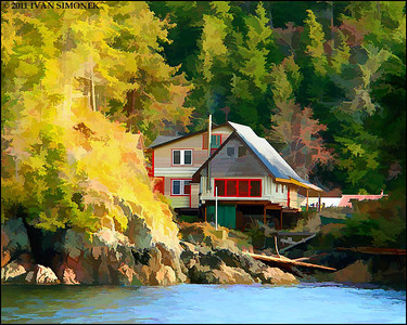 """WATER VIEW"",photo converted to painting,Alaska,USA."