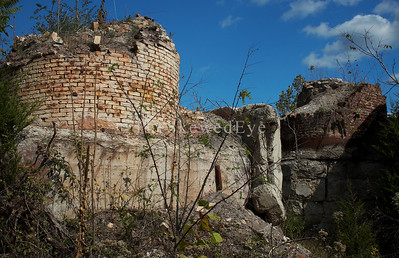 What's left of the smelting furnaces.