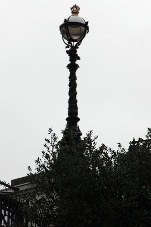 Lamp standard on the south east side of the bridge.<br /> 26 December 2011