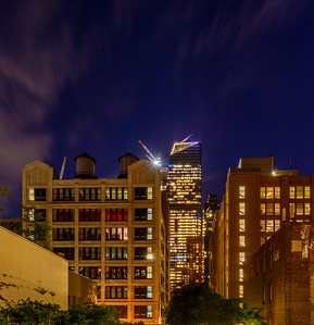 lit up 10 Hudson Yards