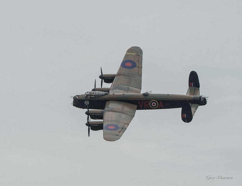 A Lancaster in fly past at the Hamilton Air Show 2012.