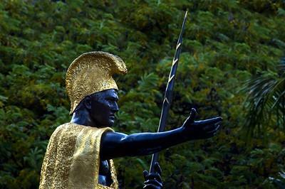 Statue of Kamehameha I  in front of Ali'iolani HaleCapitol District, Honolulu, Hawai'i