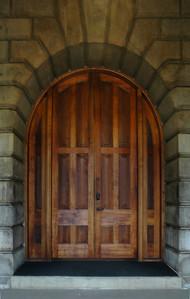Ali'iolani Hale Beautiful carved wooden doorCapitol District, Honolulu, Hawai'i