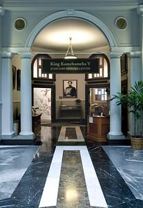 Ali'iolani Hale  King Kamehameha V Judiciatry History Center entranceCapitol District, Honolulu, Hawai'i
