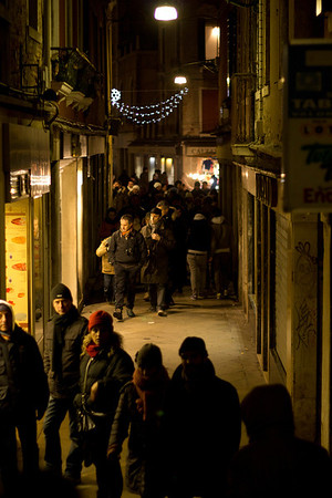 Italy, Venice SNM, Street at Night
