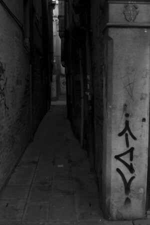Italy, Venice, Graffiti and Alleyway SNM