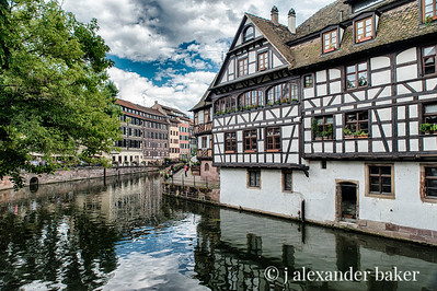 Strasbourg has beautiful canals fed by the Rhine