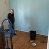 Didn't think we'd have enough white paint, so I had the south wall painted blue.