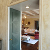 Looking thru doorway with doors that conceal with wall