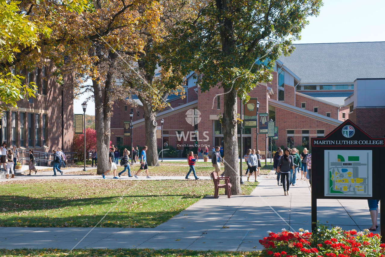 Martin Luther College Students Walking About Campus by wpekrul