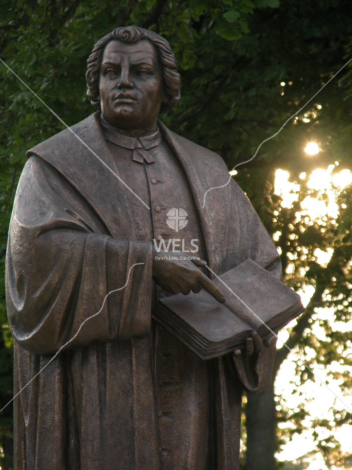 Martin Luther Statue on the Martin Luther College Campus by wpekrul