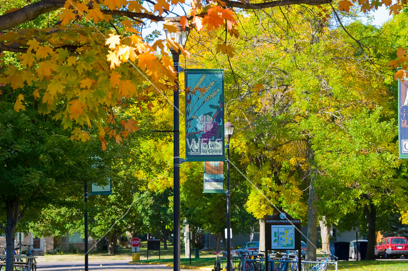 Autumn Leaves Brighten Campus at Martin Luther College by wpekrul