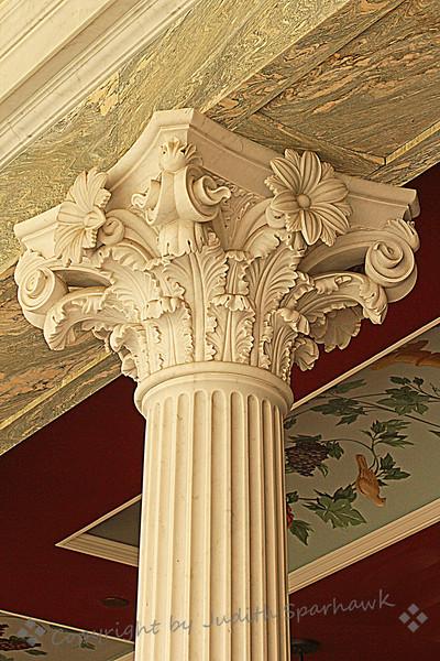 Column at the Getty Villa