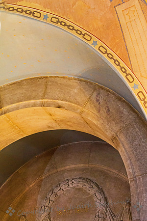 Lincoln's Arches ~ These decorative arches are part of the Lincoln Shrine in Redlands, California. These are above an alcove with an early bust of Lincoln, showing him before he had his beard.
