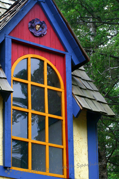 Red, Blue, Yellow ~ Window detail, Renaissance Faire, Colorado