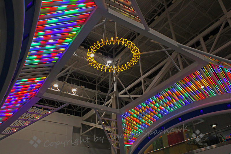 Neon Extravaganza ~ Photographed at Denver International Airport.