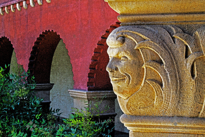 The Face of Smiley Library ~ Architectural detail, A.K. Smiley, Redlands, California