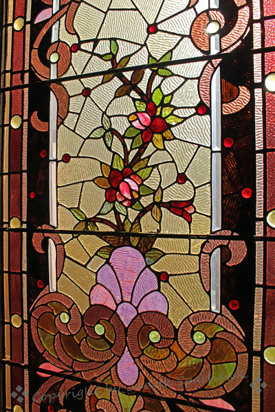 Stained Glass with Roses