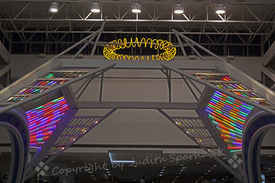 Airport Angles ~ One view of the colorful structure at Denver International Airport, Terminal B.