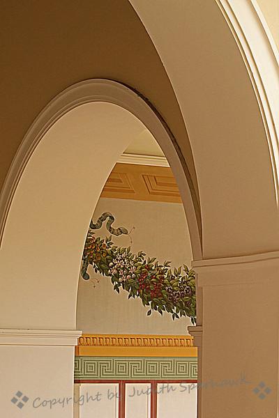 Through the Arch ~ Getty Villa view.