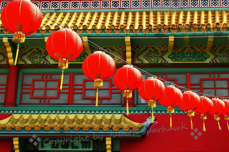 Lantern Glow ~ Architectural details, Chinatown, Los Angeles, CA