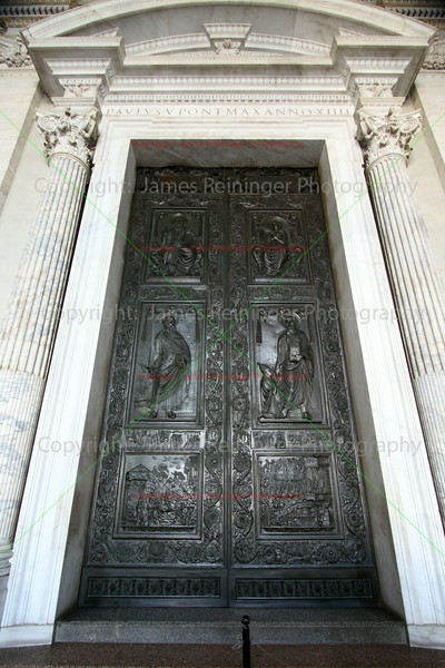 Front Door of Saint Peter's Basilica <br /> Rome, Italy