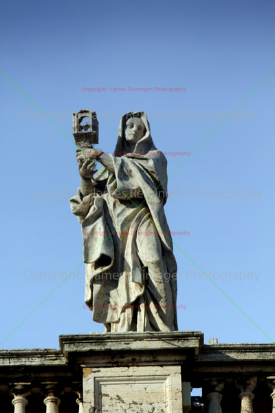 Statue<br /> Saint Peter's Square<br /> Vatican City <br /> Rome, Italy