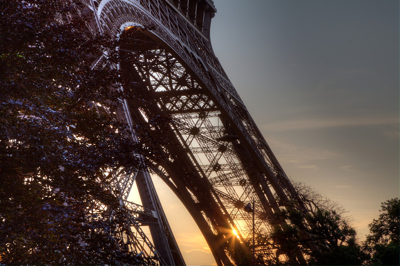 Eiffel Tower, at sunset
