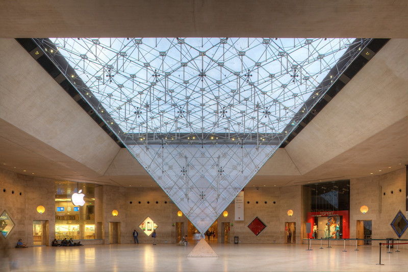 Musee du Louvre Pyramide, in the Carrousel du Louvre shopping center.