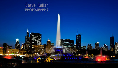 """Blue"" Buckingham Fountain, Chicago, IL   June 2009"