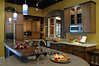 Kitchen with a granite round table by Cupertino Kitchen Design
