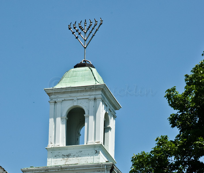 Temple Steeple with Minorah