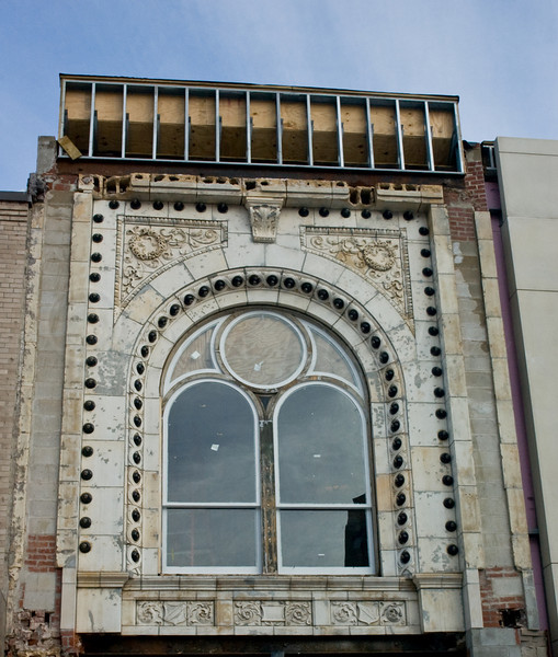 Old Facade being renovated. Hanover Theatre for the Arts, Worcester, MA