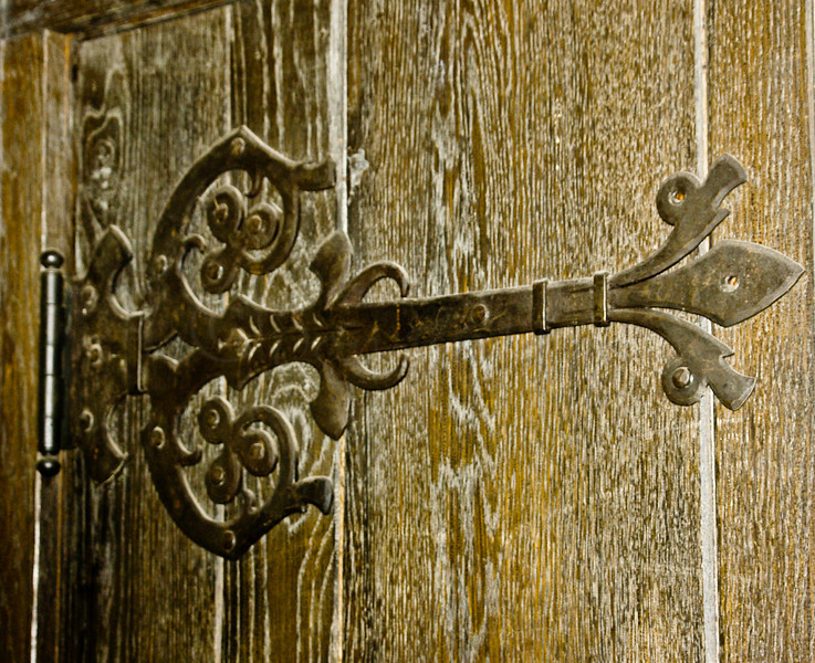 Ornate Door Hinge