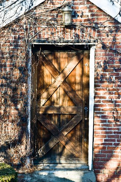 Campus workspace door.