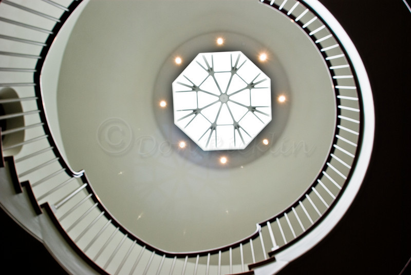 Spiral stair, Peabody-Essex Museum, Salem, MA.