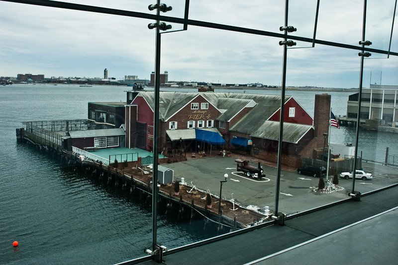 ICA Boston harbor view window.