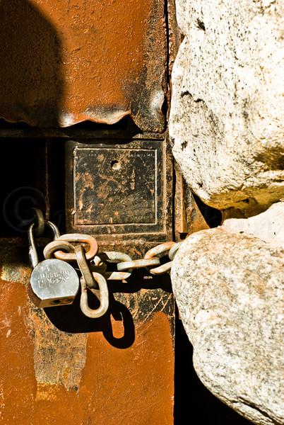 Well Chained iron Door