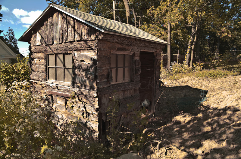 Mrs Clifford's Potting Shed. HDR from 3 Exposures