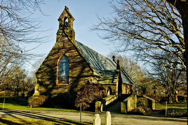 Old Stone Church in Middletown, RI.