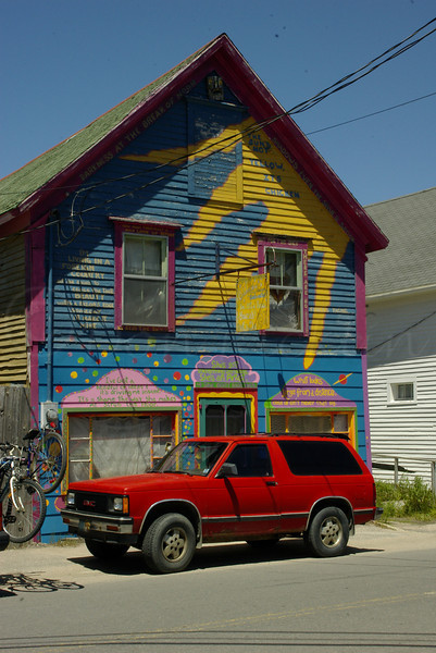 Fun painted storefront  in Nova Scotia, CA