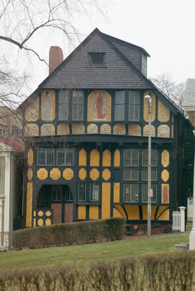 Beautiful old half timbered house on the Eastside of Providence, RI.